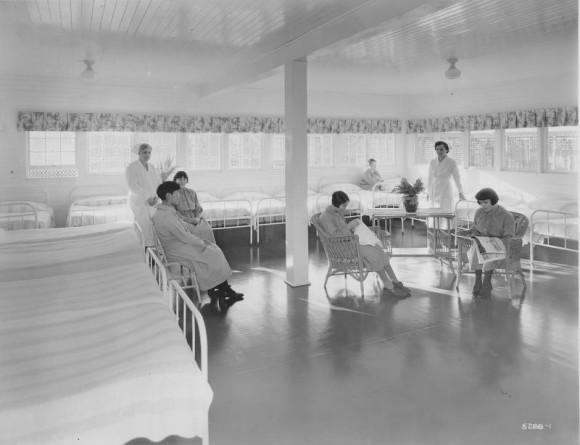 Women Patients Doing Needlepoint