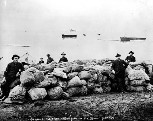 Arrrival of First Mail in Nome 1906